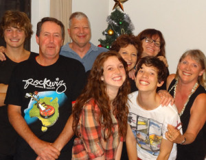 Our family Christmas in Australia.