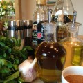 Ingredients for homemade salad dressing