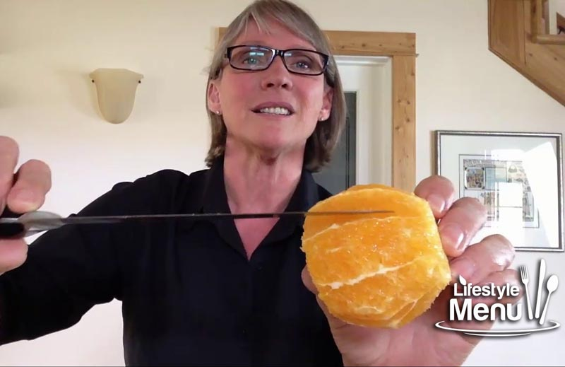 how to segment an orange -  where to cut